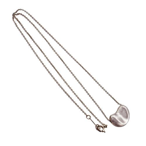Tiffany & Co Elsa Peretti Bean Silver Pendant Necklace