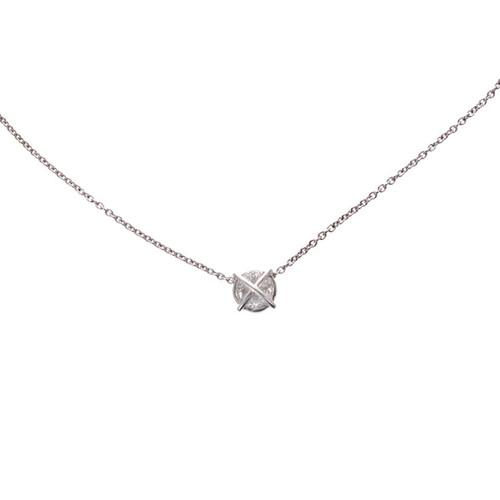 Diamond Pendant Platinum Curved Trilliant Diamonds
