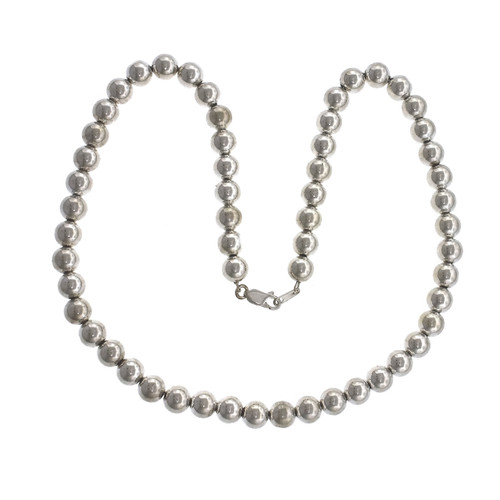 Sterling Silver Beaded 18 Inch Necklace