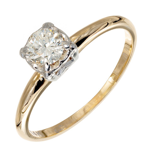 .35ct Diamond 14k Yellow Gold Engagement Ring