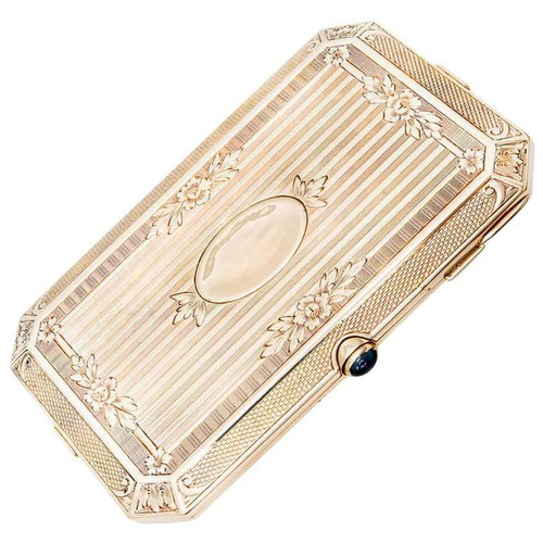 Carter Gough & Co. Sapphire Yellow Gold Ladies Compact