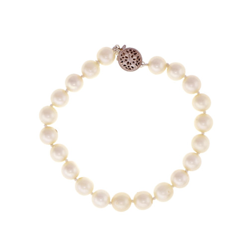 Cultured 7mm Pearl Bracelet 7.25 inches Long