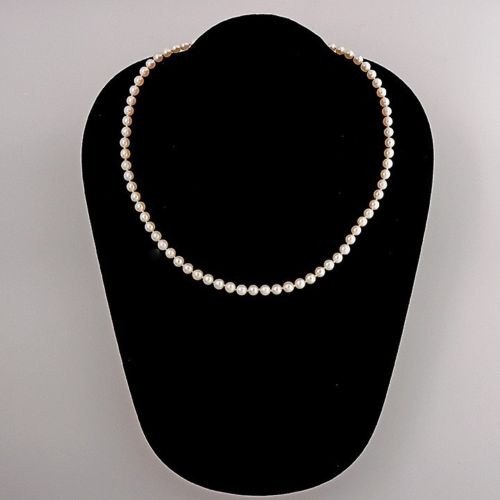 Japanese  75 4.5 To 4.7mm 16 Inch Cultured Pearl 14k White Gold Necklace