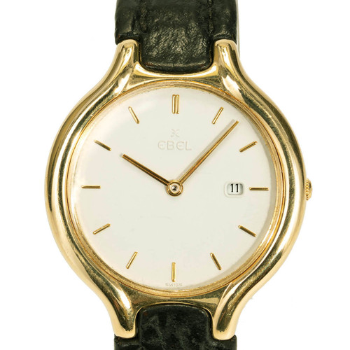 18K Yellow Gold Ebel Beluga Quartz Watch.
