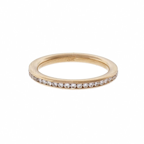 18k Yellow Gold Diamond Channel Set Eternity Band