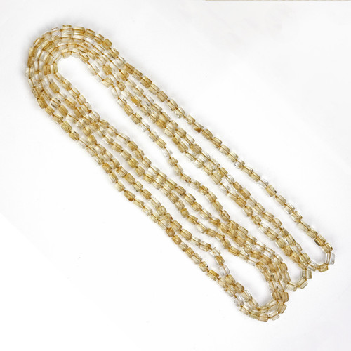 Natural Quartz 70 Inch Long Necklace GIA Certified