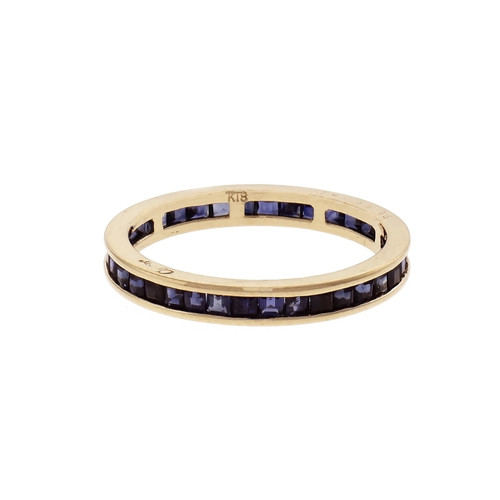 Cartier Sapphire Eternity Band Ring 18k Yellow Gold