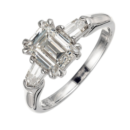 Peter Suchy 1.88 Carat Diamond Platinum Three-Stone Engagement Ring