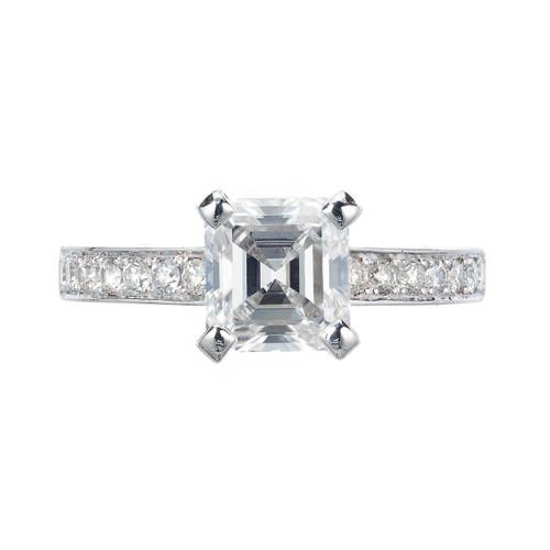 Peter Suchy GIA Certified 1.83 Carat Diamond Platinum Engagement Ring