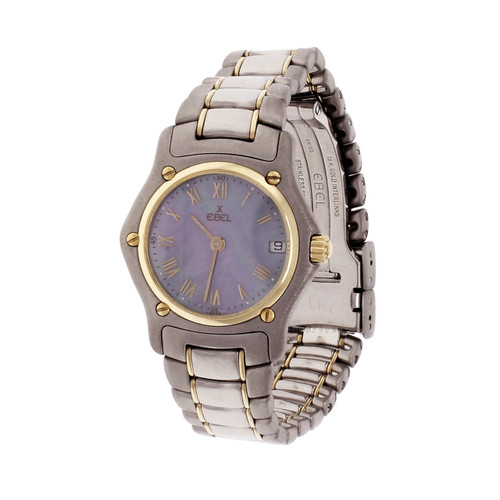 Ebel 1911 Ladies Steel & 18k Gold Watch Mother Of Pearl Dial