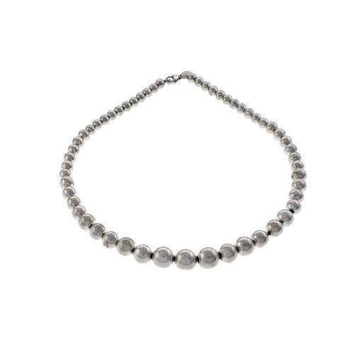 e3acde4e6 ... Tiffany & Co Sterling Silver Graduating Beaded Necklace ...
