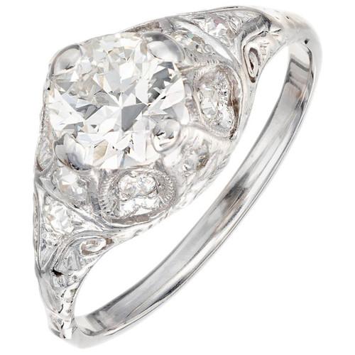 EGL Certified .82 Carat Diamond Platinum Engagement Ring