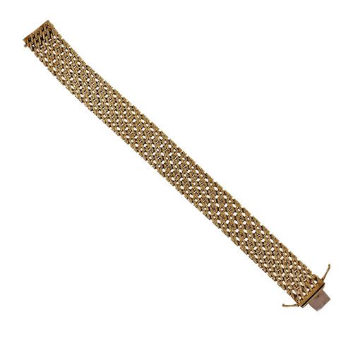 Heavy Yellow Gold Mesh Bracelet 18k Yellow Gold