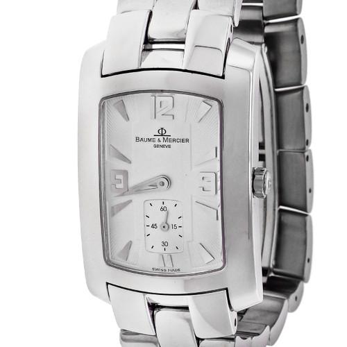 Men's Steel Baume & Mercier Hampton Quartz Wrist Watch