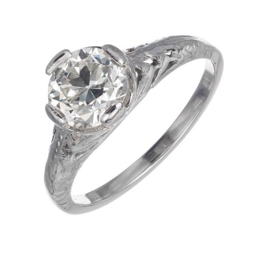 EGL Certified 1.10 Carat Diamond Platinum Engagement Ring