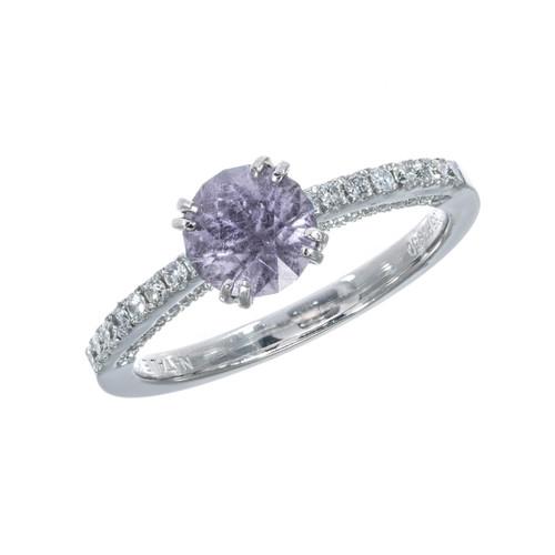 Peter Suchy GIA Certified 1.22 Carat Sapphire Diamond Platinum Ring