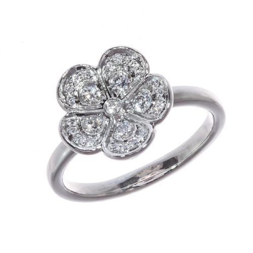 Tiffany & Co .30 Carat Diamond Platinum Ring
