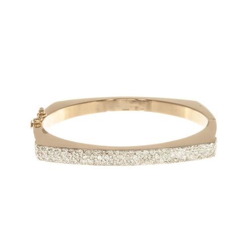 1.85 Carat 14k Yellow Gold Bangle Bracelet