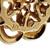 Vintage 1950 Hammerman Victorian 14k Yellow Gold Pearl Circle Cluster Earrings
