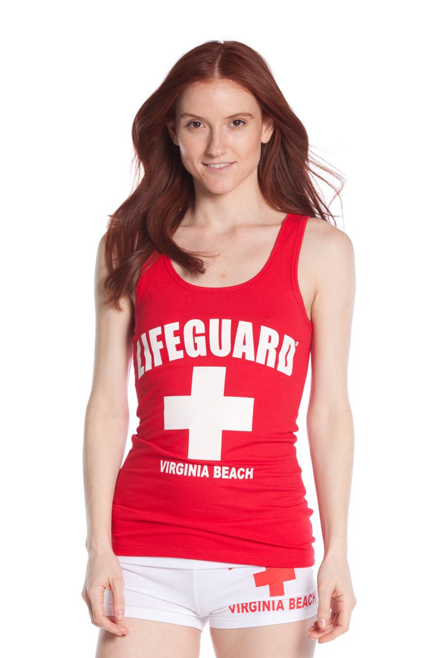 bbecee53771e2 Ladies Jersey Cotton Tank Top - Beach Lifeguard