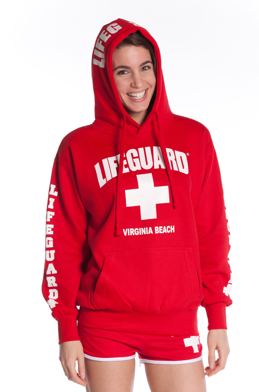 e3a5696016 Lifeguard Pullover Hooded Sweatshirt Red Iconic East Coast Hoodie