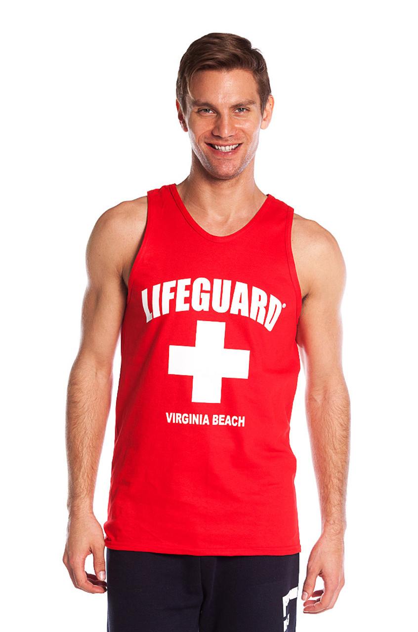 887c029b Red The Muscle Tank | Beach Lifeguard Apparel Online Store