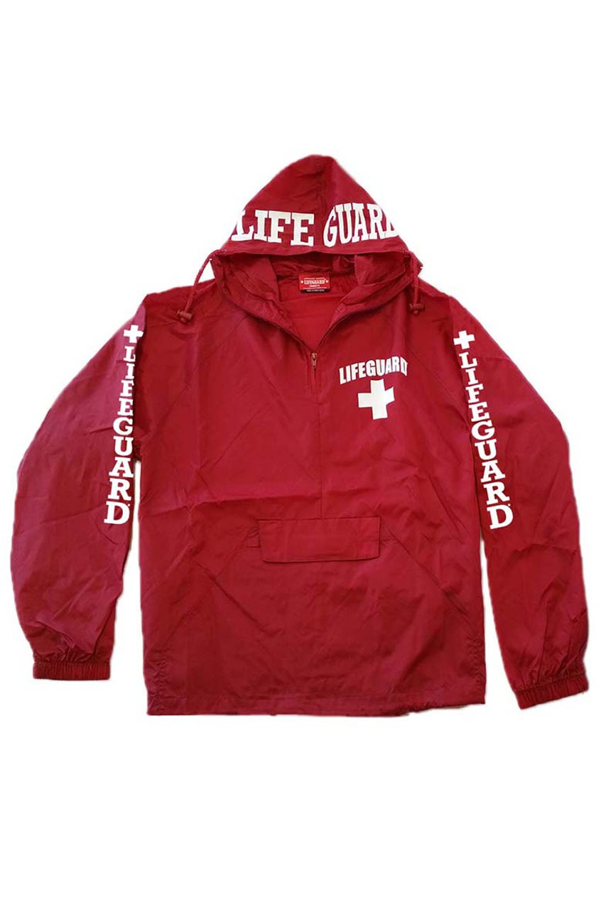 7be14d9020e Red quarter zip hooded windbreaker beach lifeguard apparel online store jpg  780x1180 Venice beach santa cruz