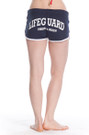 Black Back Ladies Hi-Cut Shorts | Beach Lifeguard Apparel Online Store