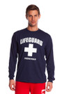 Guys Blue Long Sleeved Shirt | Beach Lifeguard Apparel Online Store