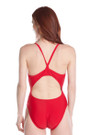 Back One-Piece Lycra Swimsuit | Beach Lifeguard Apparel Online Store
