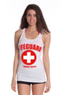White Ladies Jersey Cotton Tank Top | Beach Lifeguard Apparel Online Store