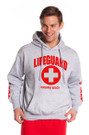 Gray Guys Iconic Hoodie | Beach Lifeguard Apparel Online Store