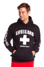 Black Guys Iconic Hoodie | Beach Lifeguard Apparel Online Store