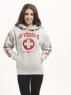 White Gray Ladies Iconic Hoodie | Beach Lifeguard Apparel Online Store