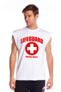 White The Muscle Shirt | Beach Lifeguard Apparel Online Store