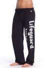 Front Black Fleece Sweatpants | Beach Lifeguard Apparel Online Store