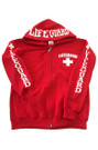 Red Full Zip Hoodie | Beach Lifeguard Apparel Online Store