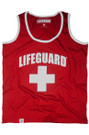 Red | Contrast Tank | Beach Lifeguard Apparel Online Store