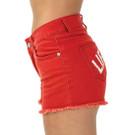 Ladies Denim Vintage Washed Shorts