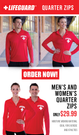 Men's Lifeguard Quarter Zip Active Shirt