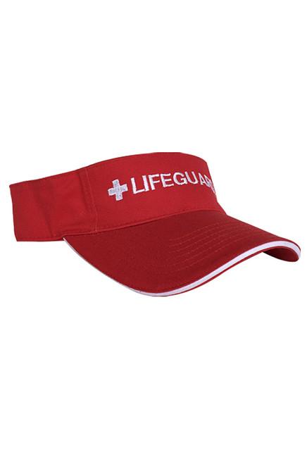 bf1bef7f9d427a Red Adjustable Sun Visor   Beach Lifeguard Apparel Online Store ...