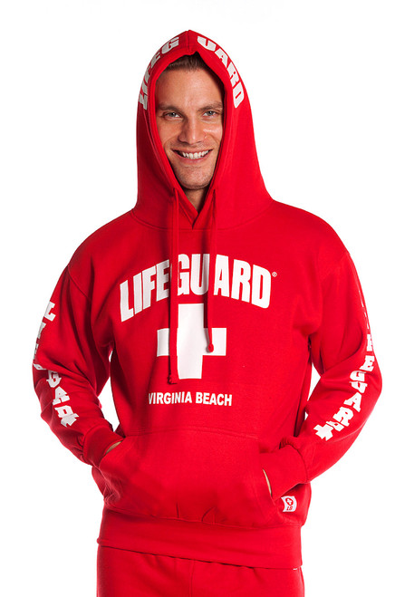 966dd347 Red Guys Iconic Hoodie | Beach Lifeguard Apparel Online Store