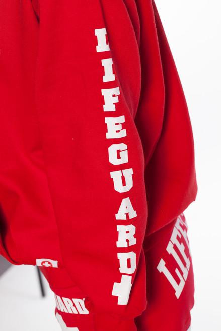 e7ab6b61b31a Lifeguard Pullover Hooded Sweatshirt Red Iconic East Coast Hoodie