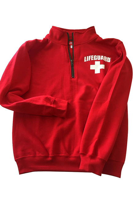 70e4ba712d55 Lifeguard Pullover Hooded Sweatshirt Red Iconic East Coast Hoodie
