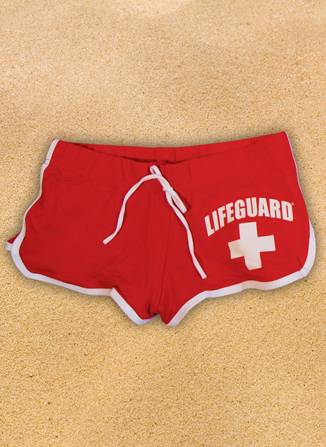 Red Ladies Hi-Cut Shorts | Beach Lifeguard Apparel Online Store