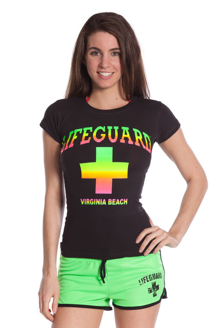 Juniors Neon Blend Tee | Beach Lifeguard Apparel Online Store