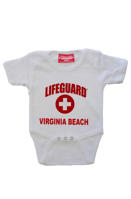 White Lifeguard Infant Onesies | Beach Lifeguard Apparel Online Store