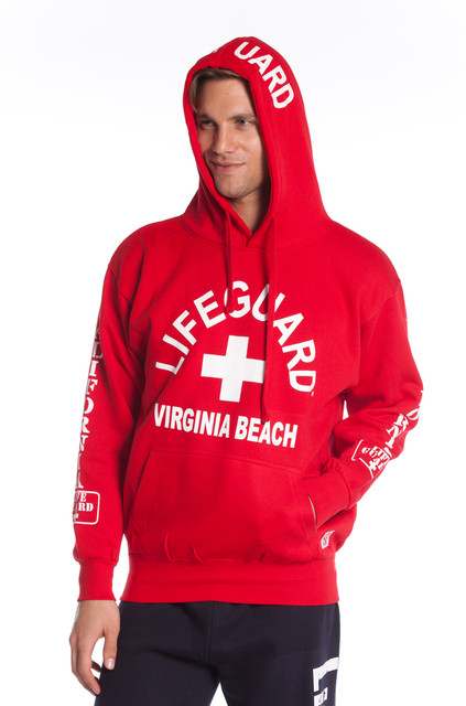 Red Guys West Coast Hoodie | Beach Lifeguard Apparel Online Store