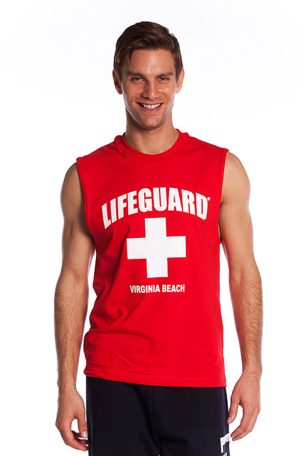 Red The Muscle Shirt | Beach Lifeguard Apparel Online Store
