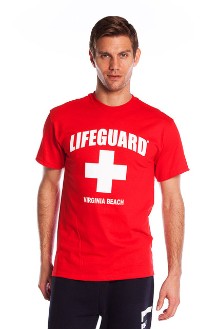Red The Traditional T-Shirt | Beach Lifeguard Apparel Online Store
